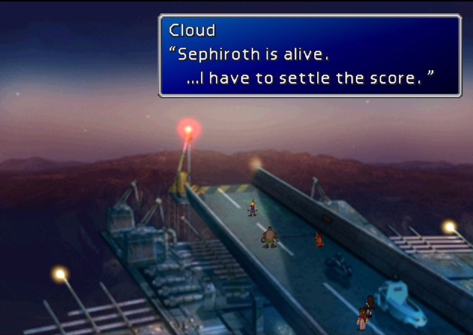 Screenshot from Final Fantasy VII